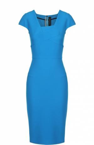 Платье-футляр с асимметричным вырезом Roland Mouret. Цвет: синий