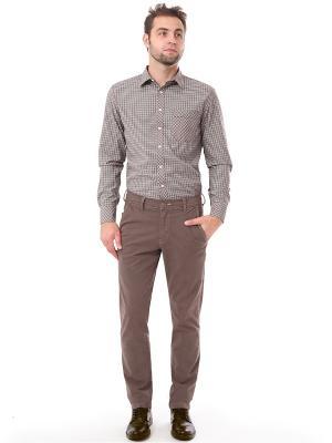 Рубашка F5. Цвет: коричневый, белый