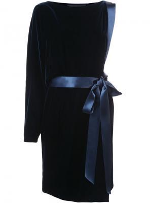 Бархатное платье на одно плечо Alexandre Vauthier. Цвет: чёрный