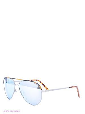 Солнцезащитные очки Polaroid. Цвет: серебристый, коричневый