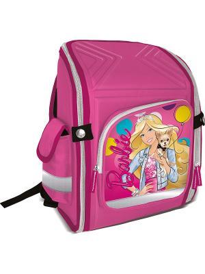 Ранец-трансформер профилактический, с EVA-спинкой Barbie. Цвет: розовый