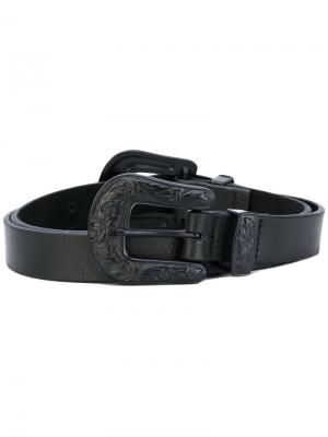 Double buckle belt B-Low The. Цвет: чёрный