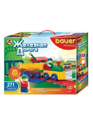 Конструктор Bauer серии Железная дорога 271 эл. (в коробке) 8/8. Цвет: зеленый