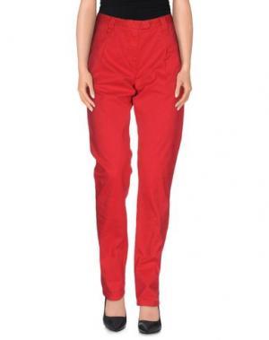 Повседневные брюки SOCCX. Цвет: красный