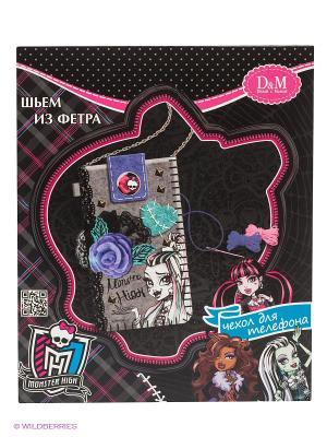 Набор шьем чехол для мобильного телефона Фрэнки Monster High Делай с мамой. Цвет: черный