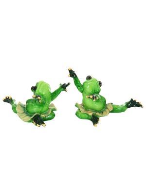Фигурка декоративная Лягушки-танцовщицы Elan Gallery. Цвет: зеленый