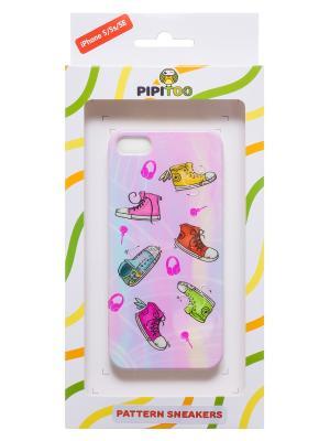 Чехол-накладка Sneakers для iPhone 5/5s/SE Pipitoo. Цвет: розовый