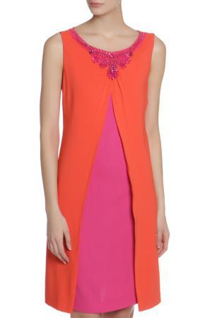 Платье Clips. Цвет: коралловый, розовый