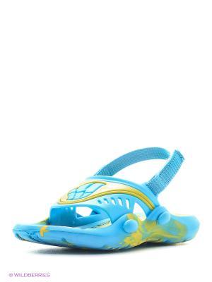 Детские тапочки FLOP Mad Wave. Цвет: голубой, желтый