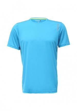 Футболка спортивная Reebok. Цвет: голубой