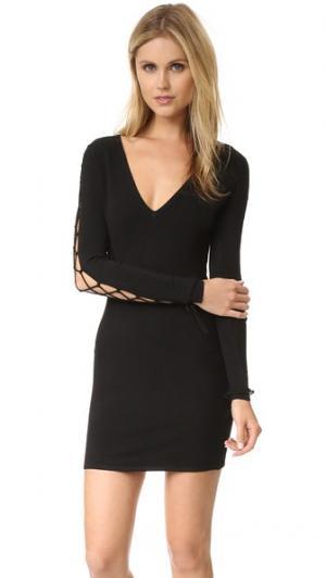 Платье Stacie с рукавами на шнуровке IRO. Цвет: черный/черный