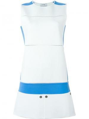Платье колор-блок Courrèges. Цвет: белый