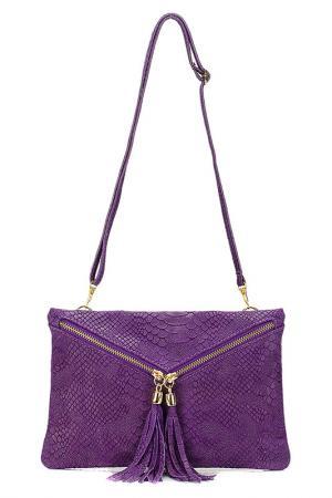 Клатч Giulia Massari. Цвет: purple