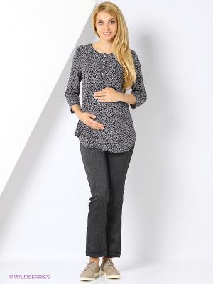 Брюки для беременных FEST. Цвет: серый