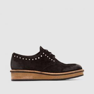 Ботинки-дерби кожаные  CAVIAR MJUS. Цвет: черный