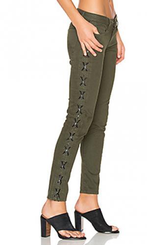 Узкие джинсы на шнуровке Etienne Marcel. Цвет: none