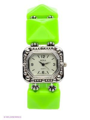 Часы Bora. Цвет: зеленый, белый