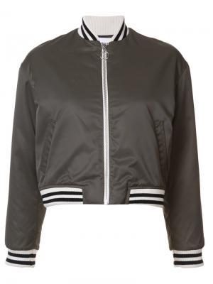 Классическая укороченная куртка Harmony Paris. Цвет: зелёный