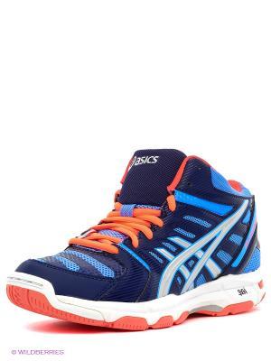 Волейбольные кроссовки Gel-Beyond 4 Mt ASICS. Цвет: синий, коралловый, серебристый