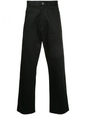 Широкие джинсы Raf Simons. Цвет: чёрный