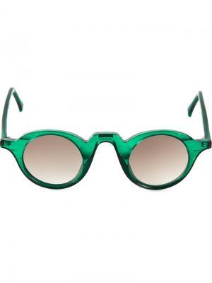 Солнцезащитные очки Retro Pantos Barns Barn's. Цвет: зелёный