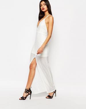 Bec & Bridge Платье макси цвета слоновой кости Nazar. Цвет: кремовый