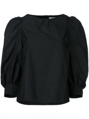Блузка с рукавами-баллон Atlantique Ascoli. Цвет: чёрный
