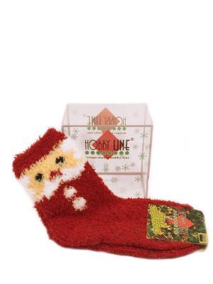 Детские носочки в подарочной упаковке HOBBY LINE. Цвет: красный, белый