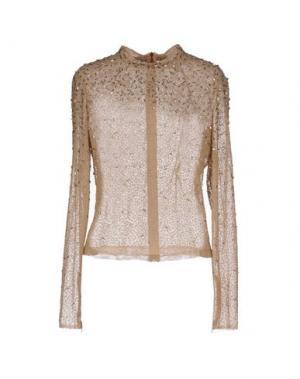 Блузка JENNY PACKHAM. Цвет: песочный