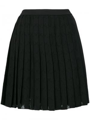 Плиссированная короткая юбка Versace Jeans. Цвет: чёрный