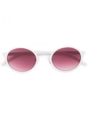 Солнцезащитные очки в круглой оправе Blyszak. Цвет: телесный