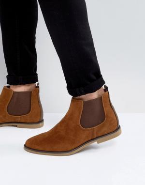 Burton Menswear Ботинки челси из искусственной замши. Цвет: рыжий