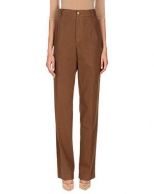 Повседневные брюки G.T.A. MANIFATTURA PANTALONI. Цвет: коричневый