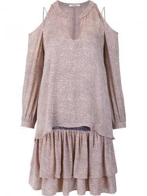 Платье с вырезами на плечах Derek Lam 10 Crosby. Цвет: телесный