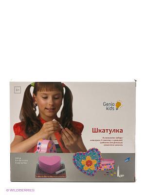 Набор для творчества Шкатулка GENIO KIDS. Цвет: розовый