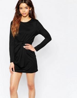 Wal G Платье с перекрученным дизайном. Цвет: черный