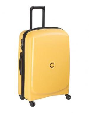 Чемодан/сумка на колесиках DELSEY. Цвет: абрикосовый