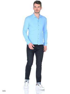 Рубашка Пряник. Цвет: светло-голубой
