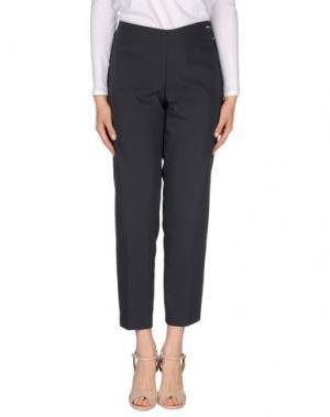 Повседневные брюки CARLA MONTANARINI. Цвет: стальной серый