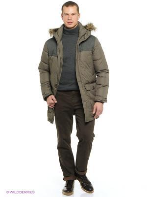 Пальто Icepeak. Цвет: хаки, коричневый
