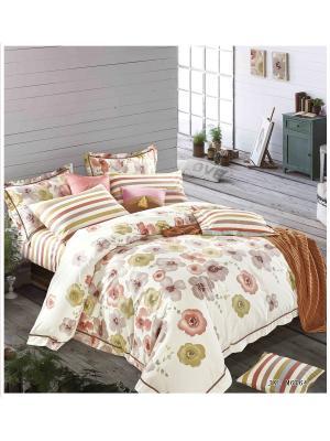 Комплект постельного белья ROMEO AND JULIET. Цвет: светло-зеленый, лиловый, молочный