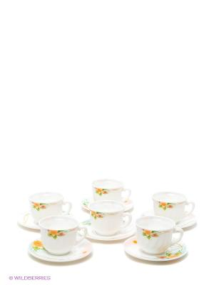 Набор чайный Арина Miolla. Цвет: белый, желтый