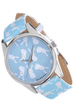Часы Зайки на голубом MITYA VESELKOV. Цвет: голубой