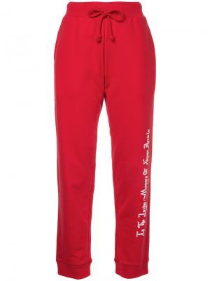 Спортивные штаны с принтом сзади G.V.G.V.Flat. Цвет: красный