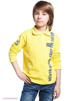Лонгслив-поло PELICAN. Цвет: желтый