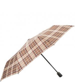 Бежевый зонт в клетку Doppler. Цвет: клетка