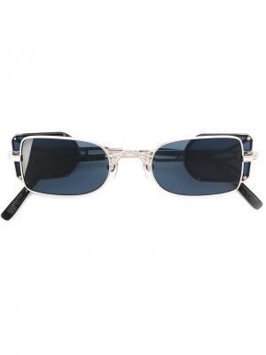 Солнцезащитные очки в квадратной оправе Matsuda. Цвет: металлический