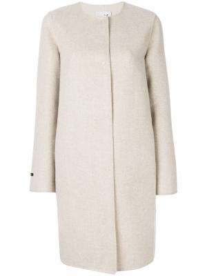 Пальто без воротника Manzoni 24. Цвет: телесный