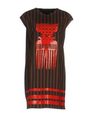 Короткое платье TER ET BANTINE. Цвет: синий