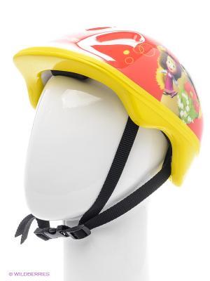 Шлем Маша и медведь, размер m Next. Цвет: красный, желтый